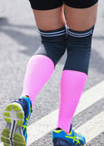 Marathon woman runner. Runner sports equipment Stock Photography