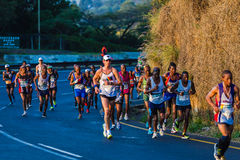 Marathonagenten Dawn Colors Sunrise Royalty-vrije Stock Afbeeldingen