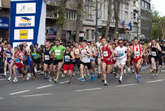 Marathonanfang Stockfotografie