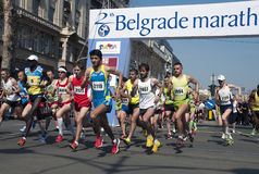 Marathonanfang Stockfotos