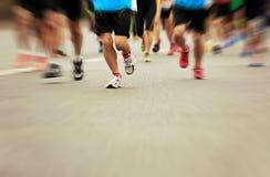 Marathonatleten het lopen stock fotografie