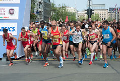 Marathonbegin Royalty-vrije Stock Afbeeldingen