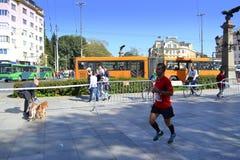 Marathoner Eagle Bridge de Sofía Imagen de archivo libre de regalías