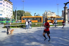 Marathoner Eagle Bridge de Sofia Image libre de droits