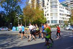 Marathoners София Болгария кресло-коляскы Стоковое Фото