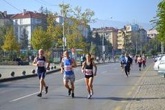 marathoners Imagenes de archivo