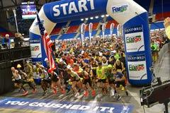 Marathoners compete in Fargo Marathoner in inclement weather