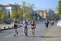 Marathoners Stock Images