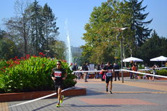 Marathoners Sofia South Park alleys Royalty Free Stock Images