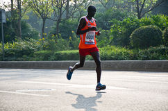 Marathonien d'international de Guangzhou Images stock