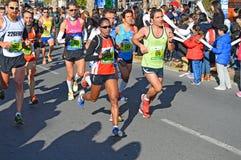 Marathonien de femme Photographie stock libre de droits