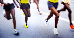 Marathoniens Images stock