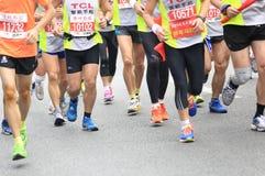 Marathoniens Images libres de droits