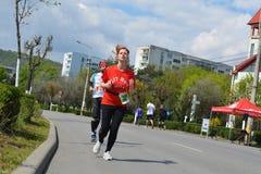 Marathoniens Photos libres de droits