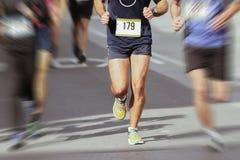 Marathoniens dans la course, abstraite Image libre de droits