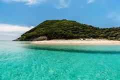 Marathonisi海岛, Zante 免版税库存照片
