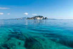 Marathonisi Island, Zante. Beautiful Marathonisi island in Zakynthos Greece royalty free stock images