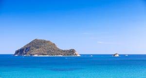 Marathonisi islet near Greek island Zakynthos Royalty Free Stock Photography