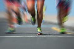 Marathonläufer im Rennen, Stockfoto