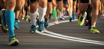 Marathonlaufenrennen Stockfotos