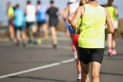 Marathonlaufenrennen Stockfoto