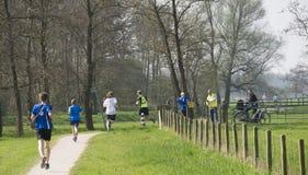 Marathonrelais 2017 Handwerk Ekiden Zwolle Lizenzfreies Stockfoto