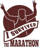 Marathonseitentriebs-Rennensieglack-läufer Stockfotografie