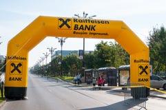 Marathontor Stockfoto