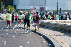 Marathonweg lizenzfreie stockfotos
