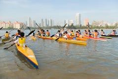 Maratón 2008 de la canoa Imagenes de archivo