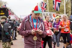 Maratón de Londres del dinero de la Virgen, el 24 de abril de 2016 Imágenes de archivo libres de regalías