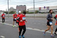 Maratón de Moscú Foto de archivo libre de regalías