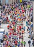 Maratońskich biegaczów biegać Obrazy Stock