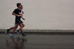 Maratońscy biegacze Zdjęcia Royalty Free