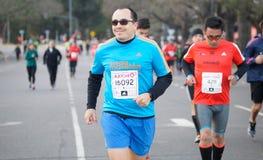 Maratoński biegacz Zdjęcia Stock