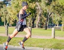 Maratoński biegacz Fotografia Royalty Free
