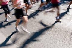 maratonów biegacze Zdjęcie Royalty Free