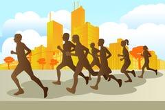 maratonów biegacze royalty ilustracja