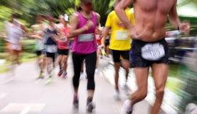 maratonów maraton 10 godzina Zdjęcie Royalty Free