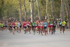 maratonów przyrodni biegacze Obrazy Royalty Free
