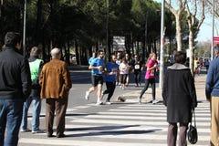 maratonów setkarzi Zdjęcia Royalty Free