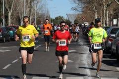 maratonów setkarzi Fotografia Royalty Free