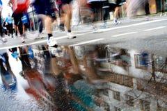 maratonów setkarzi Obrazy Royalty Free