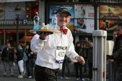 maraton 2009 paris Arkivfoto