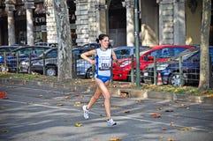 maraton 2011 turin Arkivfoton