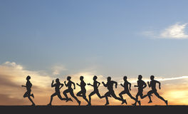 Maraton Arkivfoton