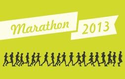 Maraton 2013 vektor illustrationer