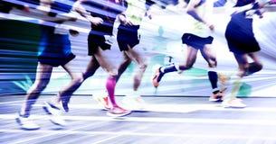 Maraton biegający na miasto drodze Obraz Royalty Free
