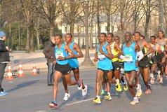 Maraton de Paris Royaltyfria Bilder