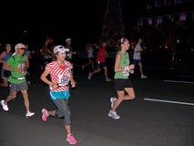 maraton för 2 honolulu Fotografering för Bildbyråer